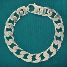 Men's diamond cut curb and figaro bracelets