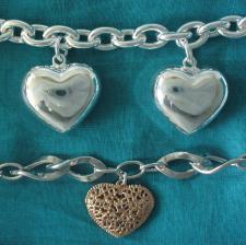 Bracelets with hearts