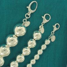 Bracciali palline sfere palle argento 925