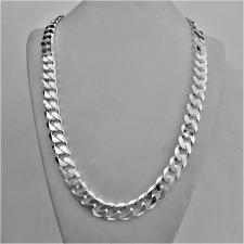 Silver men's curb chain necklace