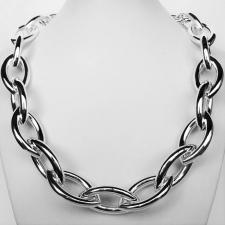 Silver ogival mesh chain necklaces