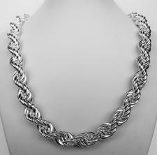 Silver rope necklaces