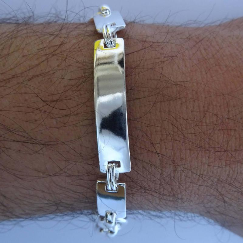 Men's id bracelet in silver