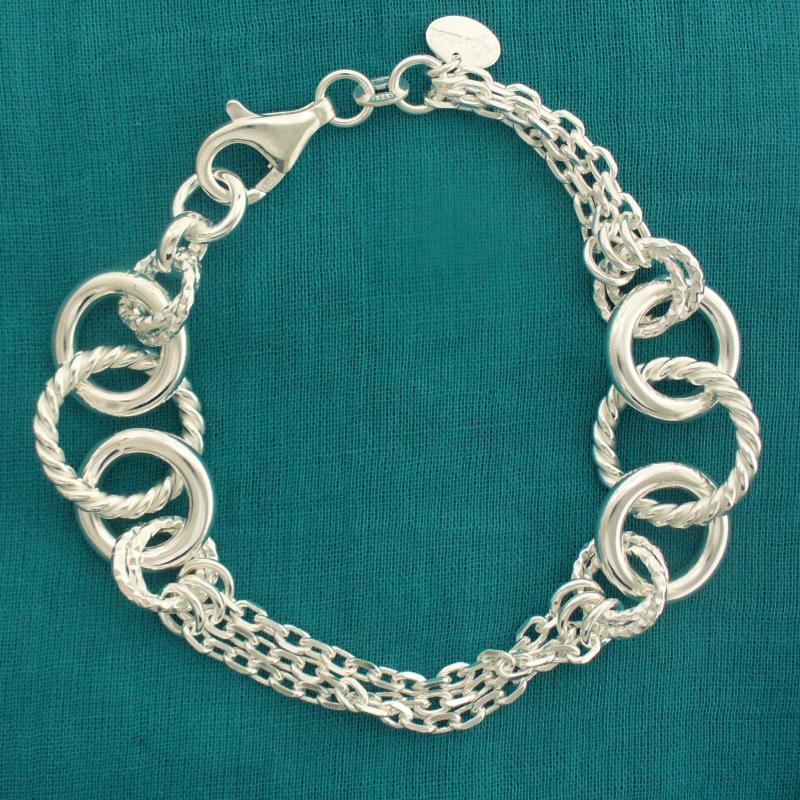 Silver bracelet from Arezzo