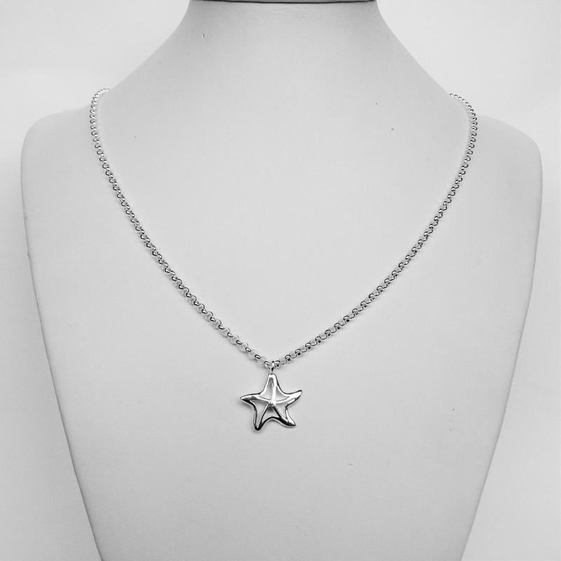 Collana argento pendente stella marina