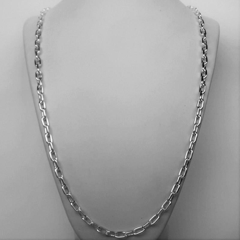 Solid sterling silver long necklace.