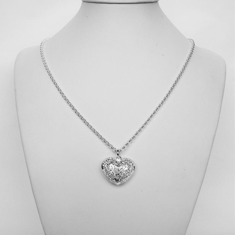 Garanzia di soddisfazione al 100% miglior grossista elegante e grazioso Collana argento pendente cuore