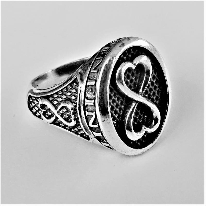 Anello uomo argento 925 simbolo infinito