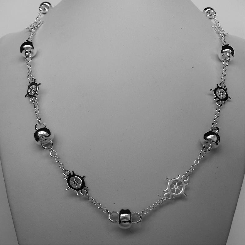 Collana in argento 925 mare