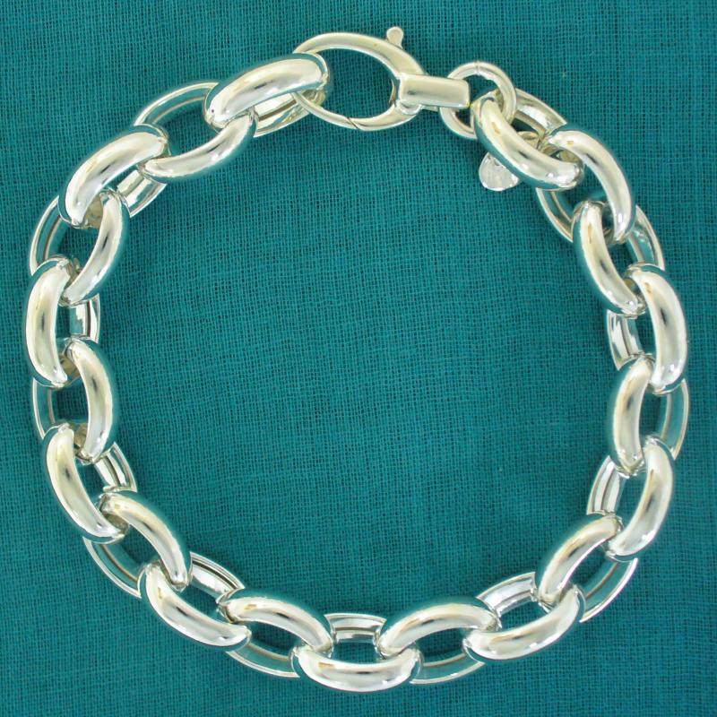 Bracciale argento 925 rolo ovale 10mm - Bracciale donna argento