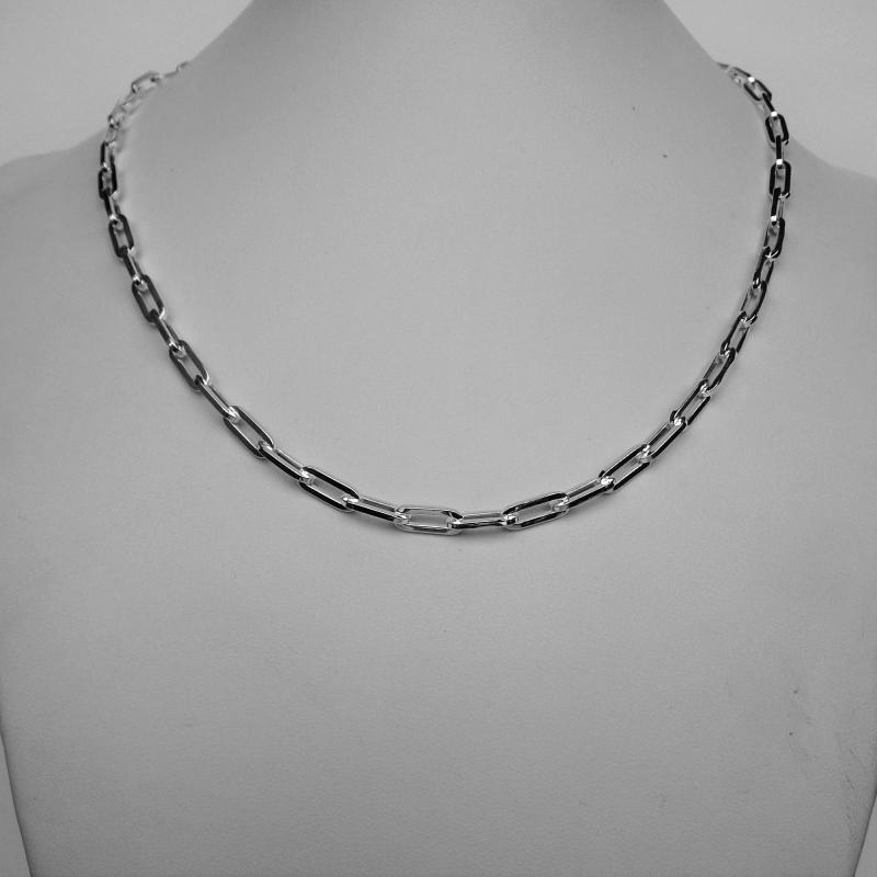 Girocollo argento maglia lunga