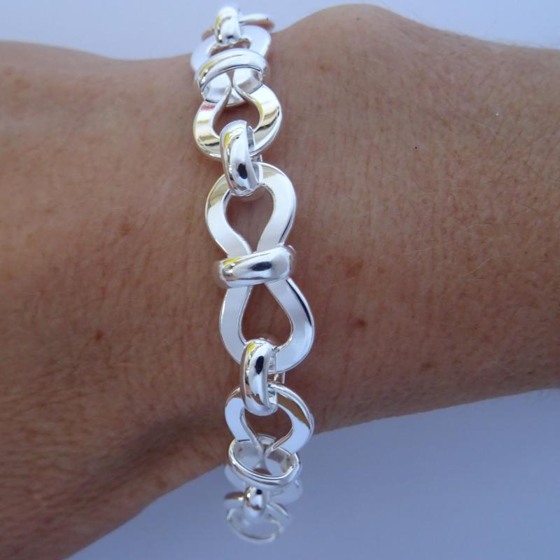 Vintage 925 silver bracelet 10mm