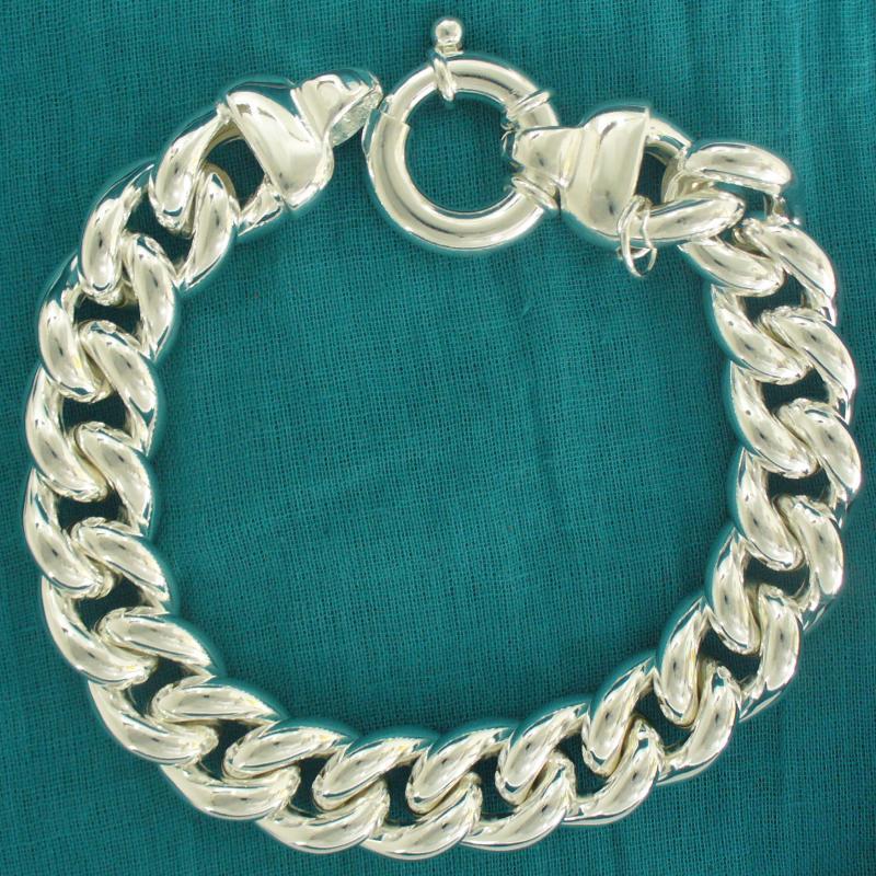 Bracciale grumetta 14mm in argento 925 - Bracciale donna