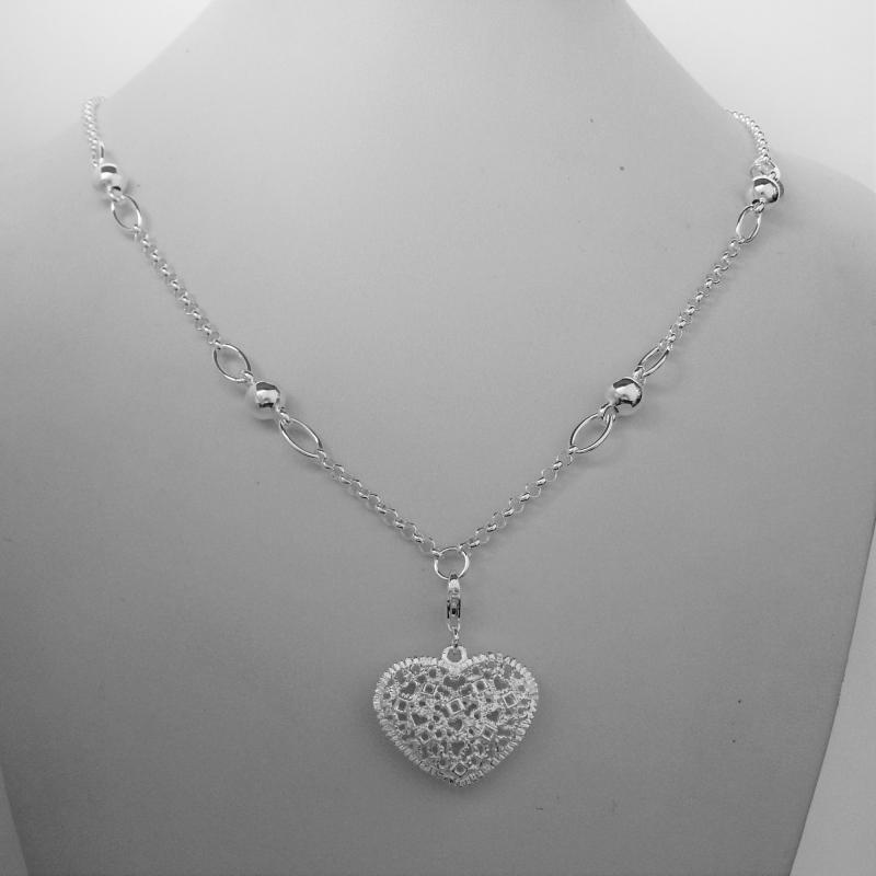 sconto più basso goditi il prezzo più basso garanzia di alta qualità Collana ciondolo cuore in argento 925.
