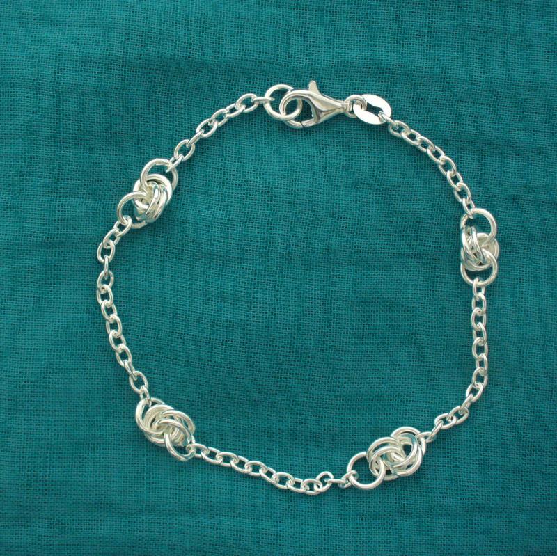 Braccialetto catena forzatina fantasia -  Gioielli in argento