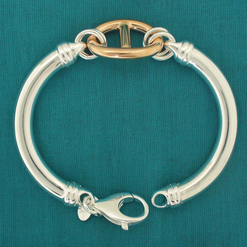Sterling silver bangle bracelet Italy