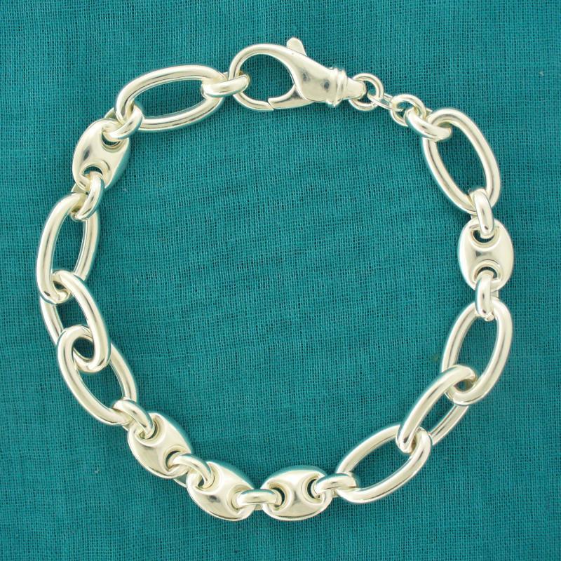 263d400a78639 Women's maglia marina & oval link bracelet in sterling silver.