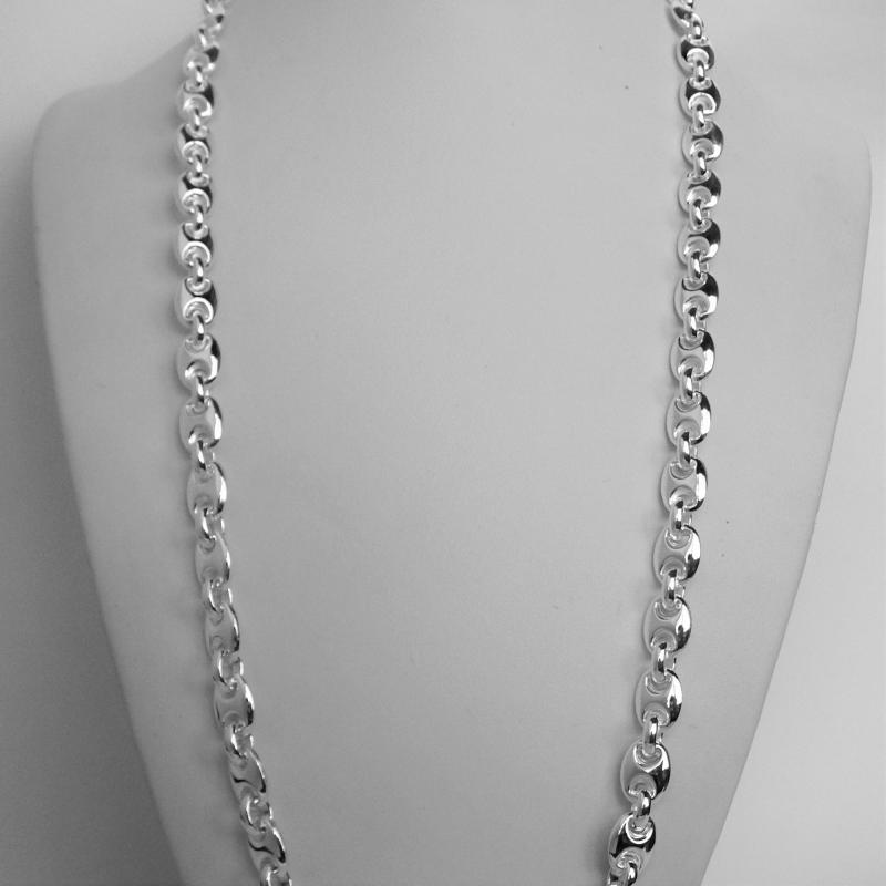chain long sterling mariner necklace silver