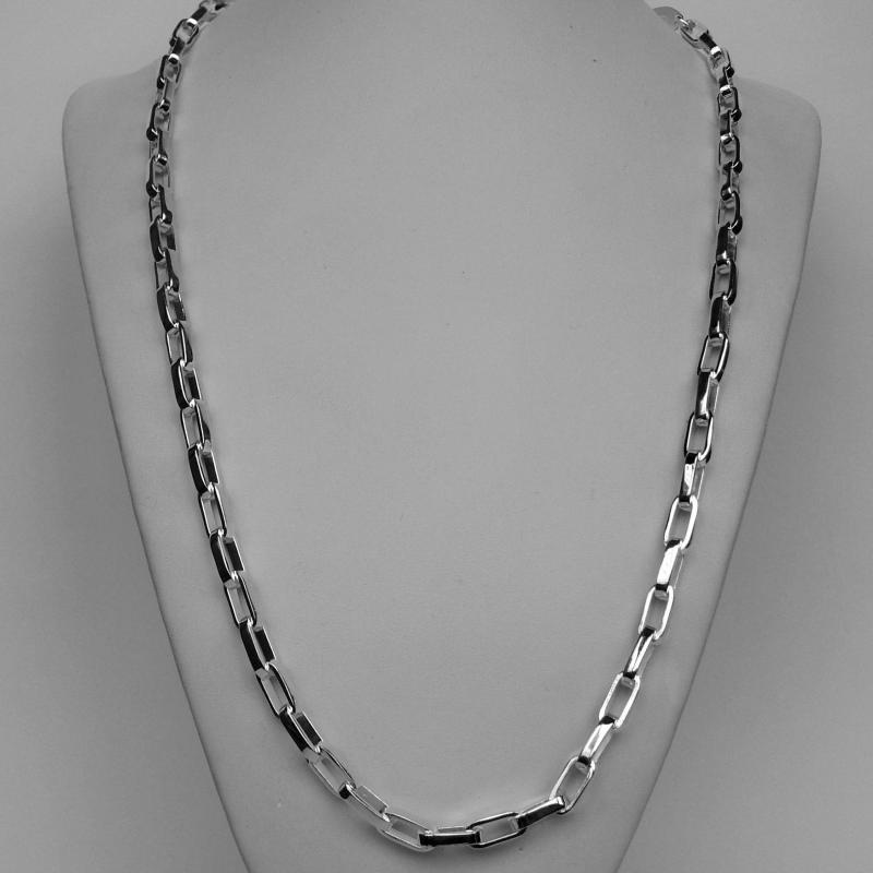 Italian sterling silver men's chain necklace length 60 cm