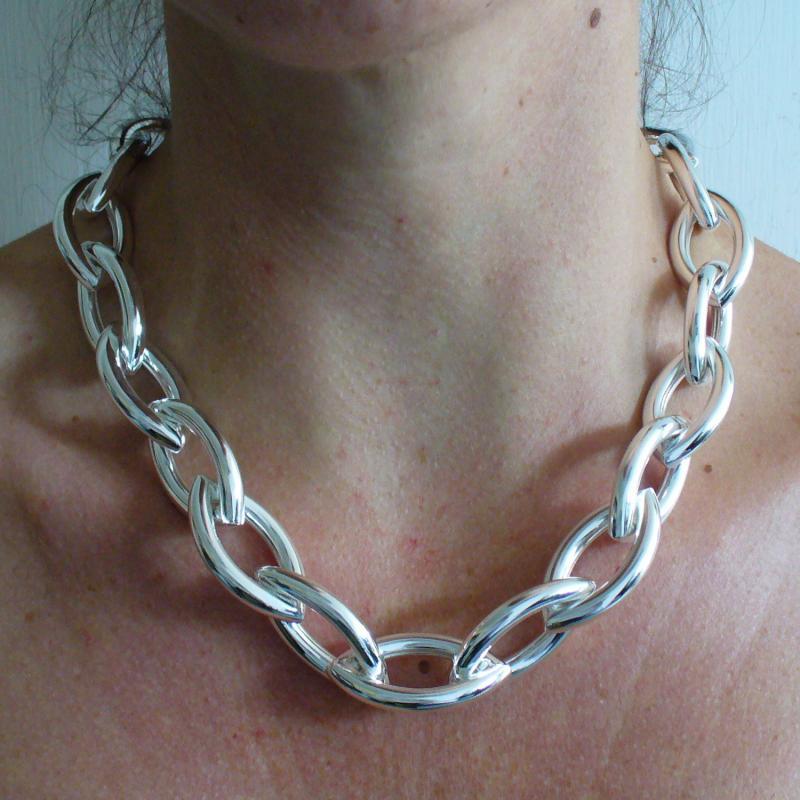 vasta selezione di bdf70 f8aba VISTOSISSIMA Collana catena argento - Collane in argento grandi