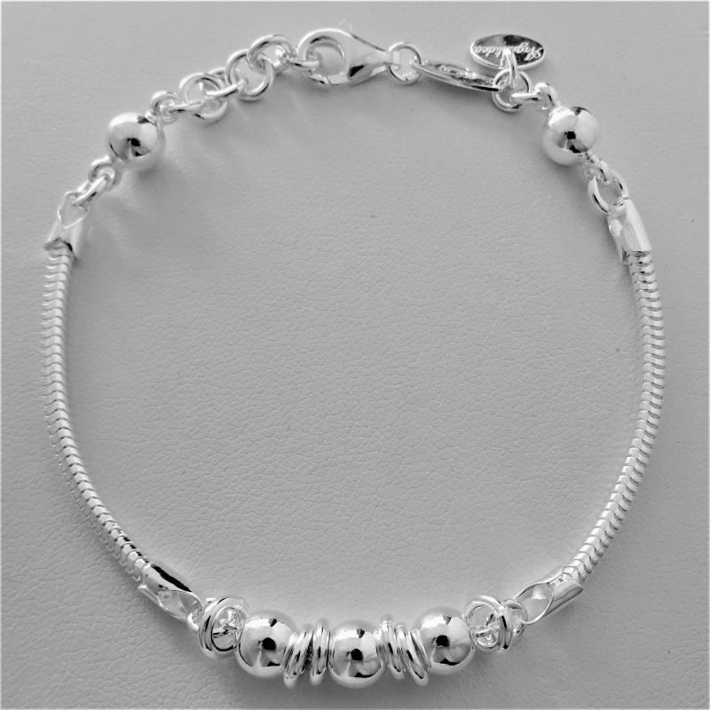 6ba322b33297d3 Braccialetto coda di topo snake in argento 925