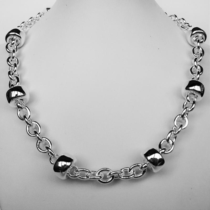 Sterling silver balls chain necklace 14mm