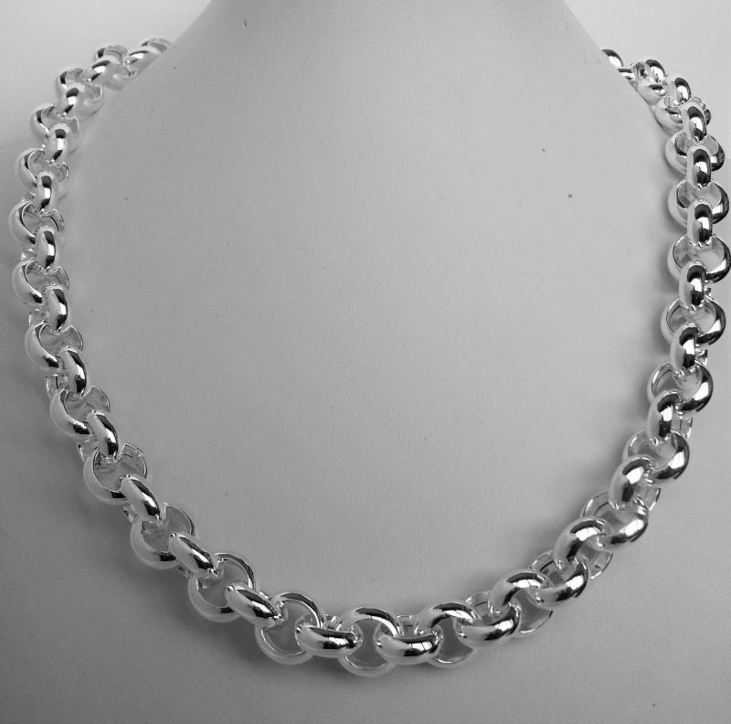 966c35ed933a5 Sterling silver belcher necklace