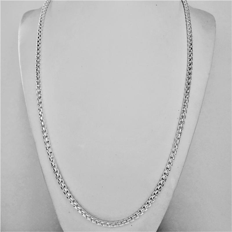 3.6mm sterling silver box chain necklace