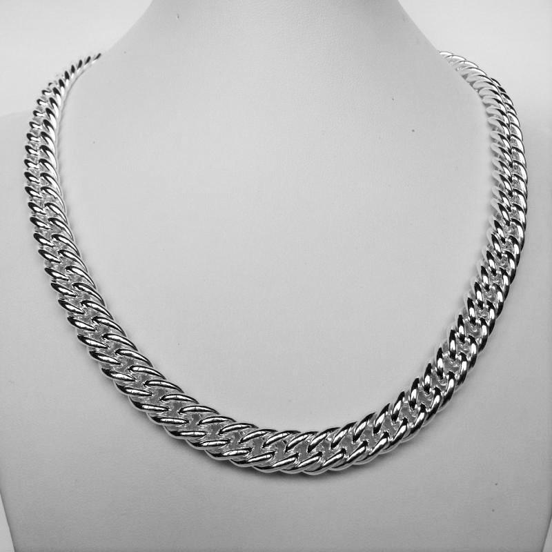 Collana in argento 925 grumetta doppia 10mm - Collana donna in argento