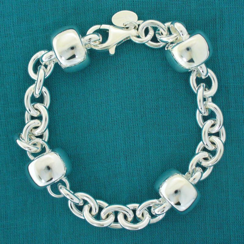 Sterling silver women's bracelet