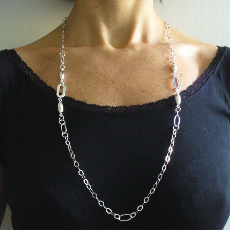 Collana in argento 925 lunga cm 80