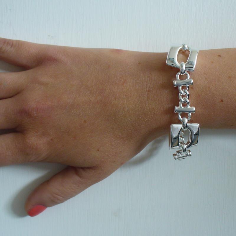 Bracciale argento fantasia grumetta - Bracciale donna fantasia in argento 925