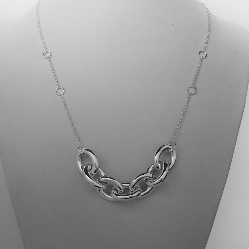 Collana in argento 925 fantasia forzatina - Collana donna in argento 925.