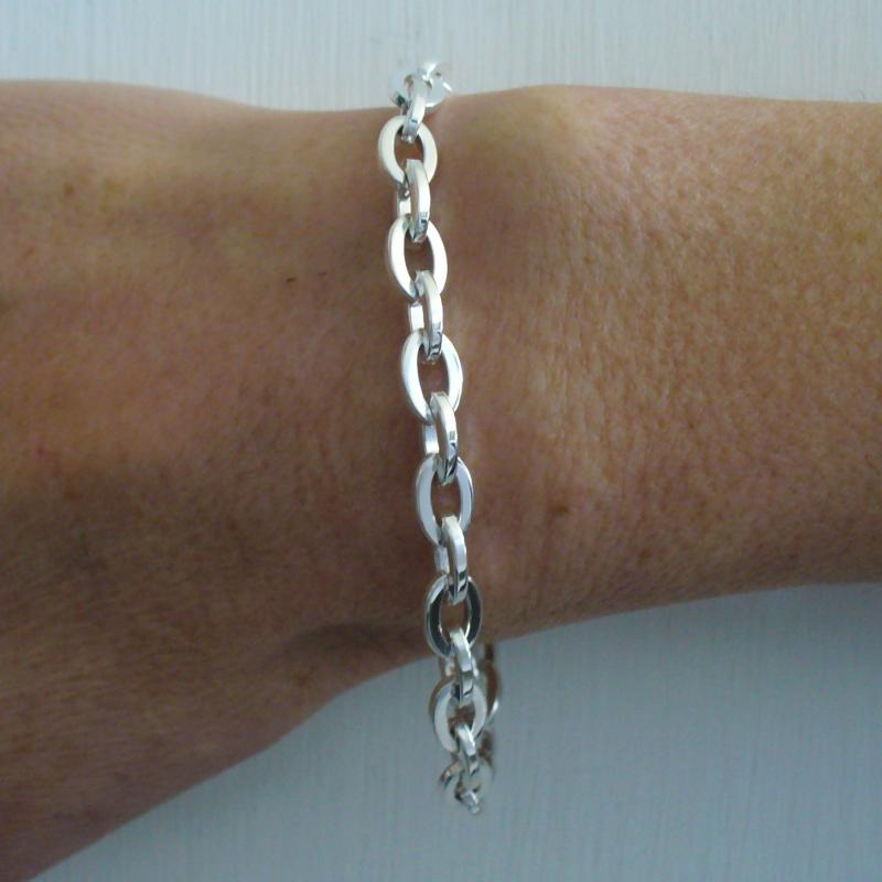 Bracciale argento donna rock chain