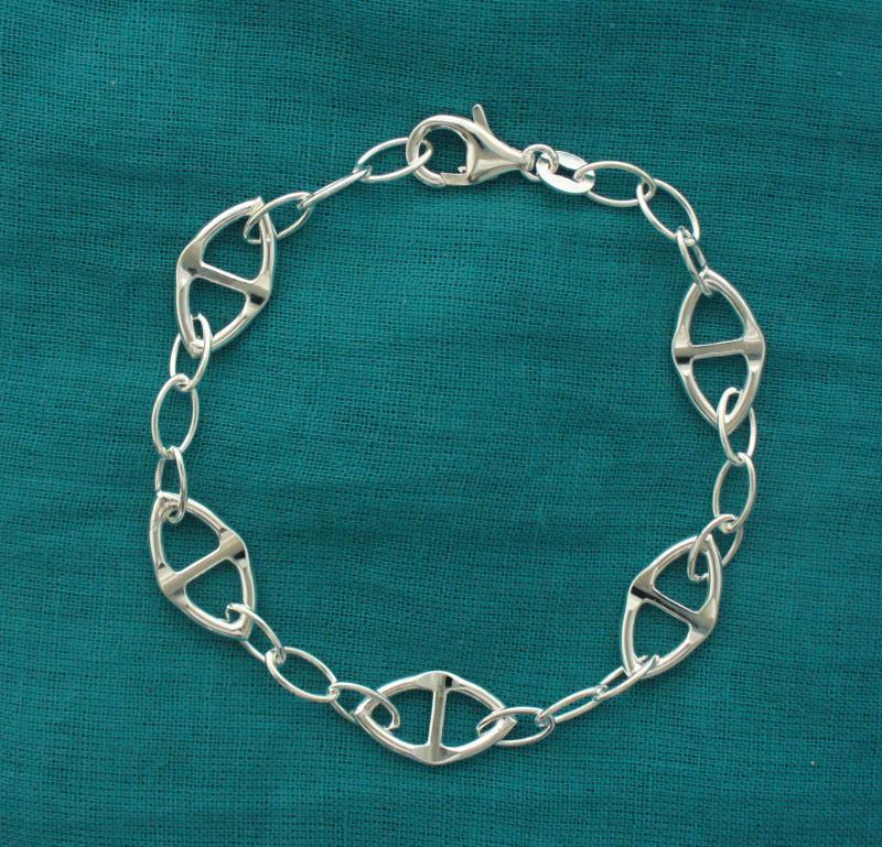 Braccialettino argento catena traversino - Gioielli argento 925