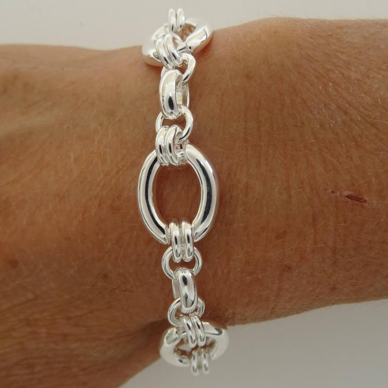 Bracciale catena maglie ovali in argento 925