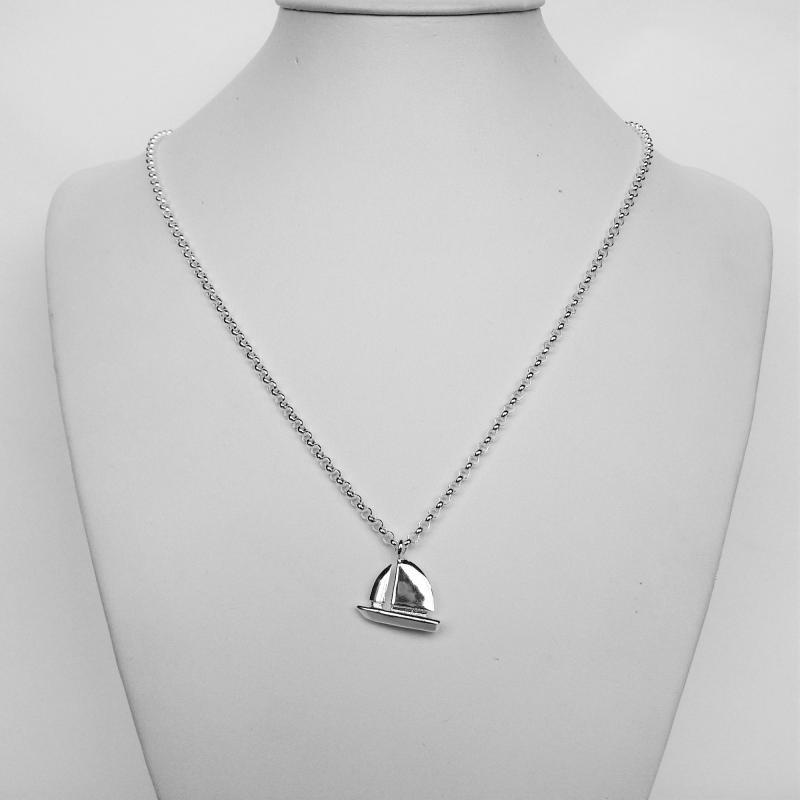Collana argento pendente barca a vela