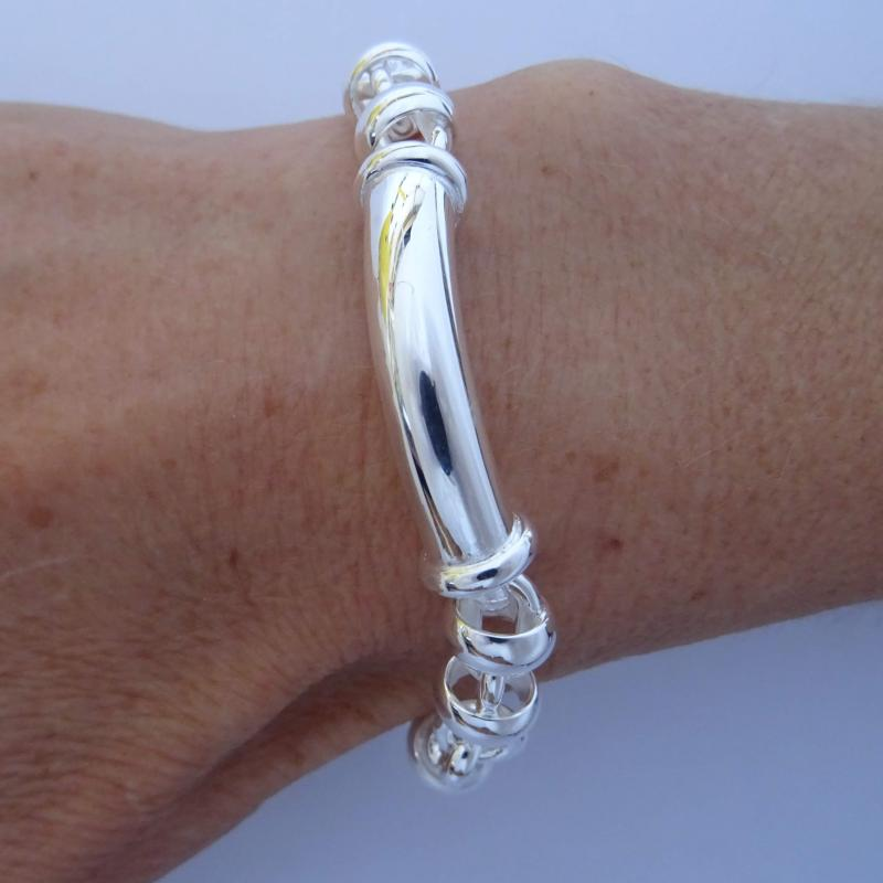 Handmade 925 silver bracelet 9mm made in Italy