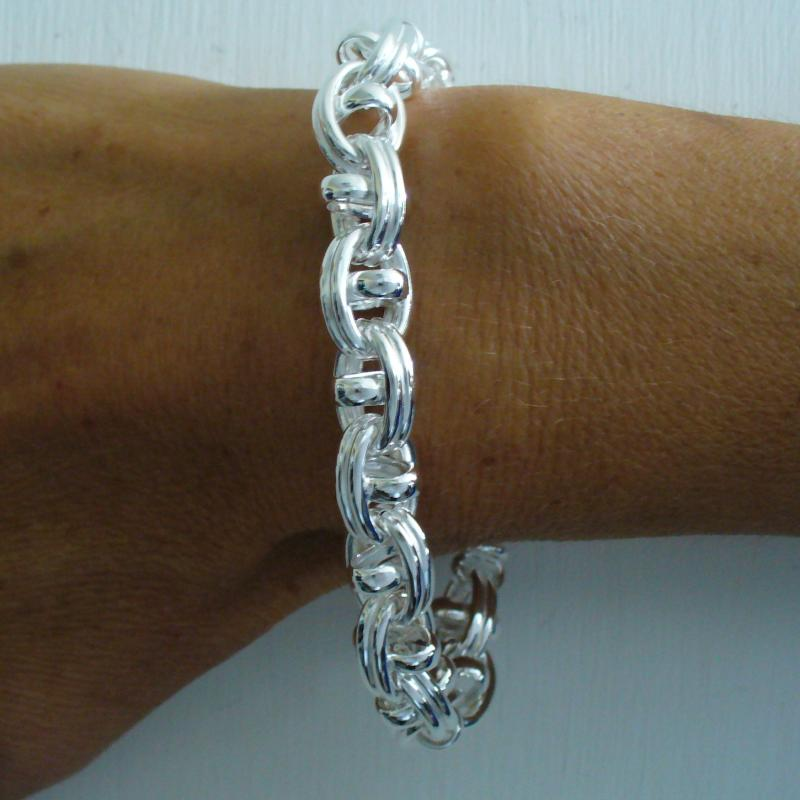 Handmade silver bracelet made in Tuscany