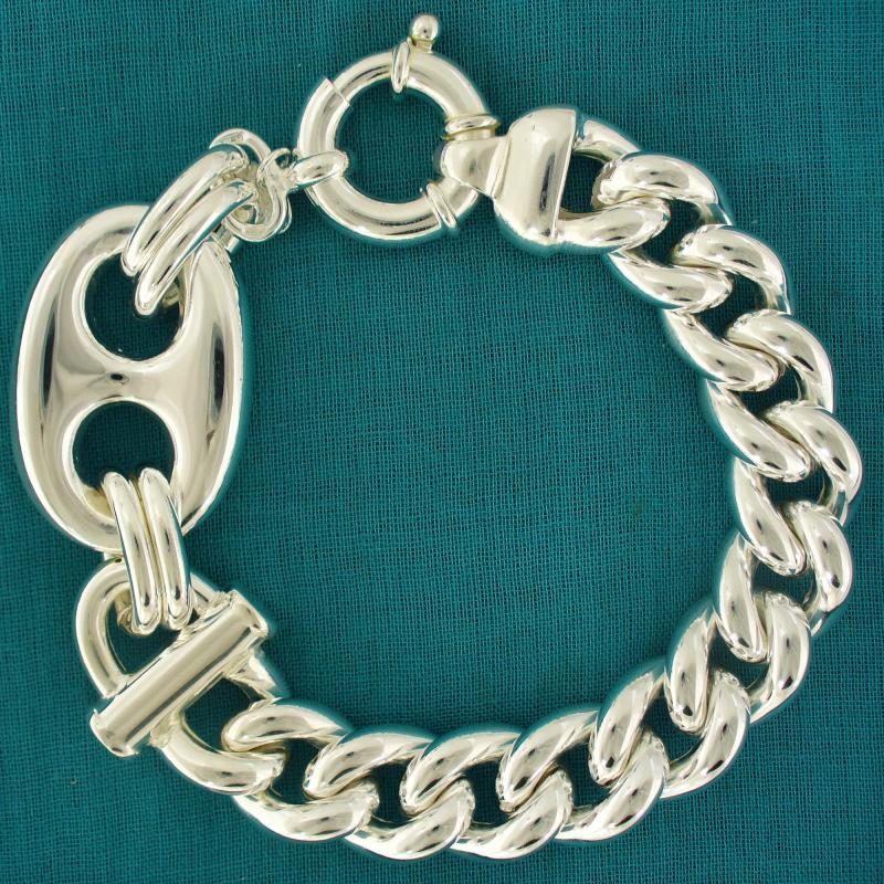 Gioielli in argento groumette - Gioielli argento maglia marinara