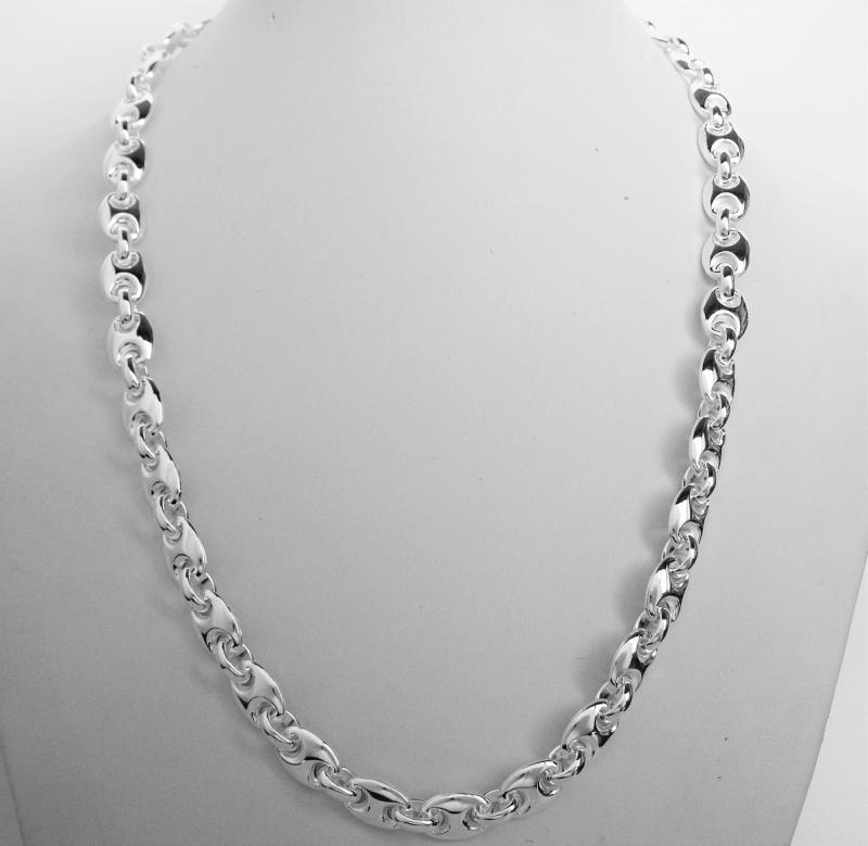 flat chain necklace white gold dp mariner men mens s