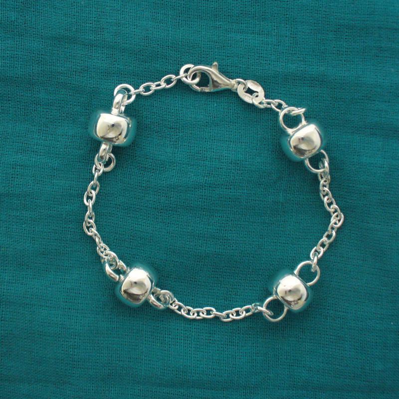 Gioielli in argento 925 - Braccialetto argento con barilotti