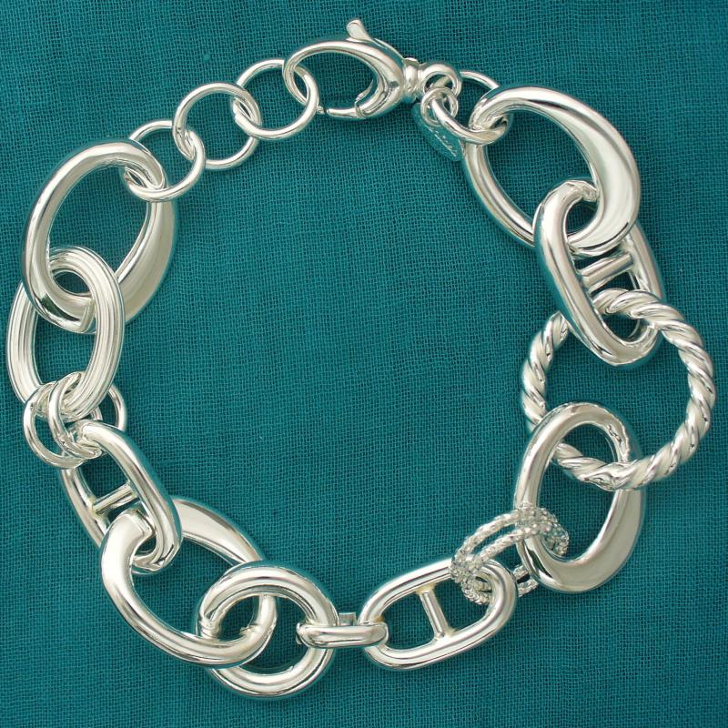 Italy silver link bracelet