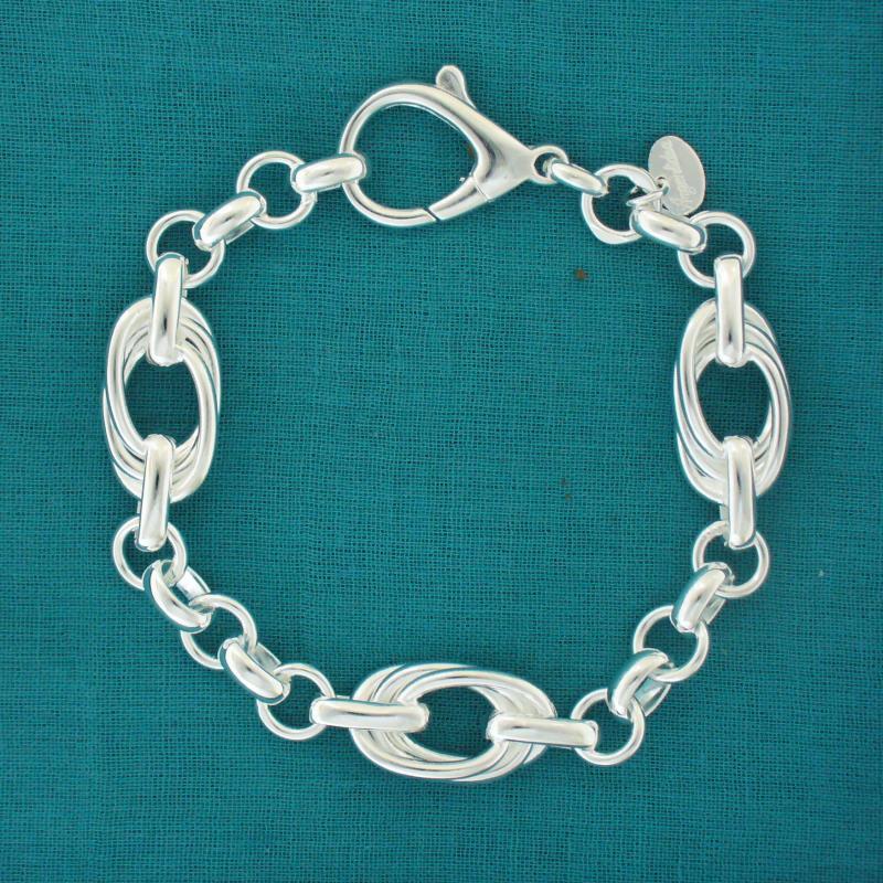 Solid sterling silver handmade bracelet