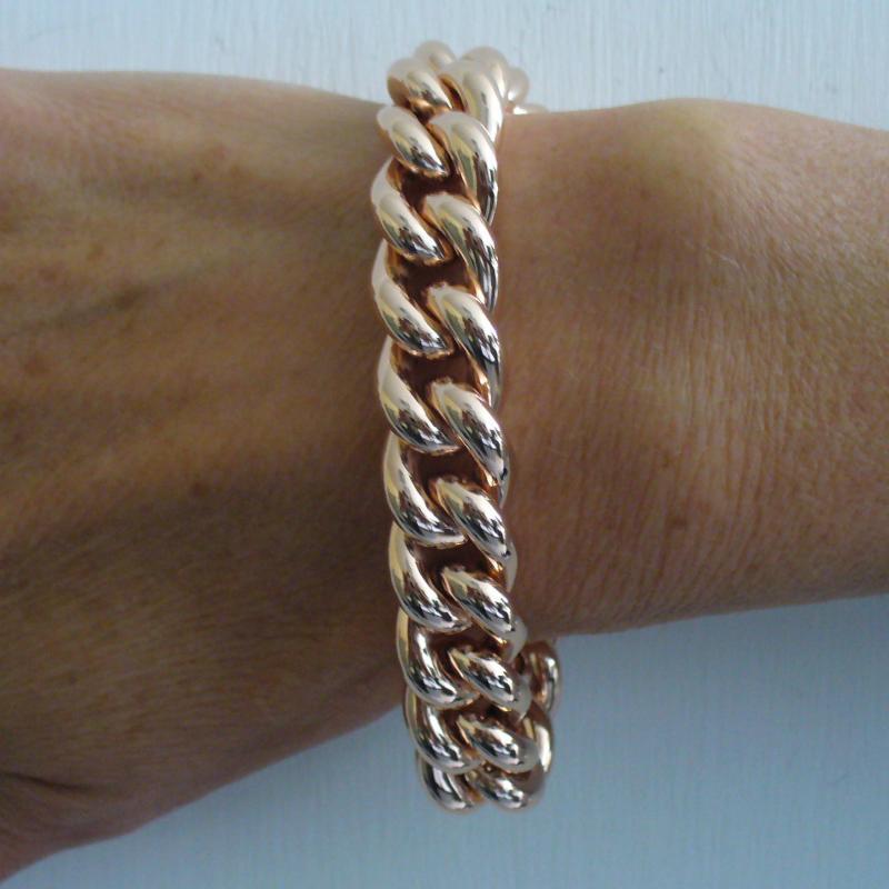 Sterling silver rose gold plated bracelet