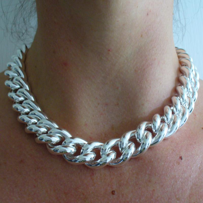 informazioni per c0434 05e5e Grande collana in argento grumetta - Grande collana grumetta