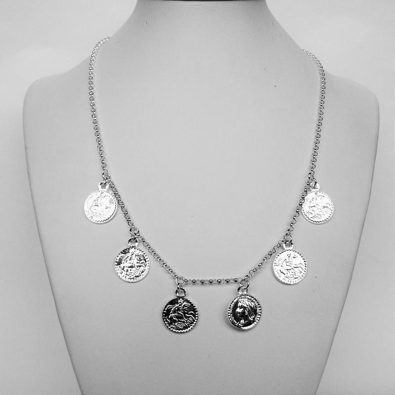 Collana monete in argento