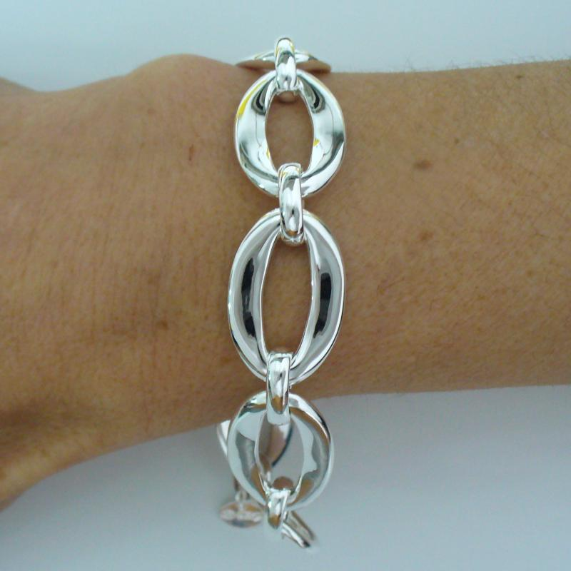 Handcrafted 925 silver bracelet made in tuscany