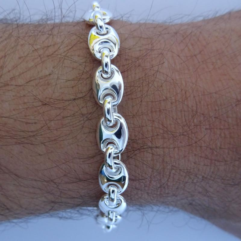Sterling silver men's mariner bracelet