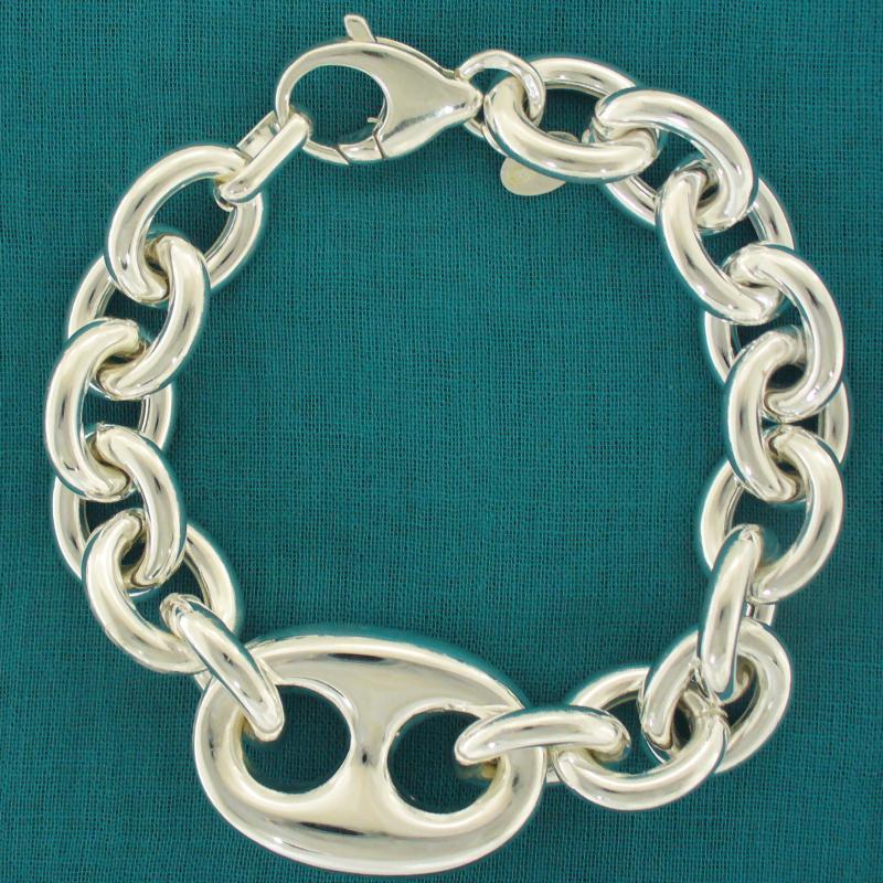 Silver mariner bracelet